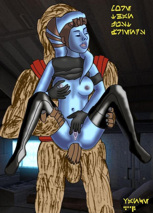 Aayla Secura Having A Good Time With Wookie S Cock In Her Tight Blue